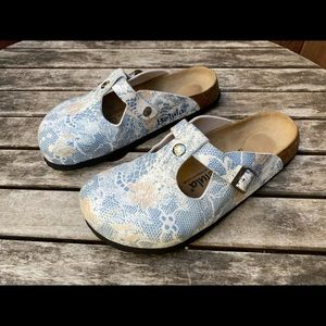 BETULA BY Birkenstock Floral Print Clogs Mary Jane